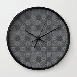 Sharkskin Geometric Floral Wall Clock