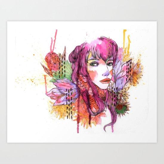 Blushing in Spring Art Print