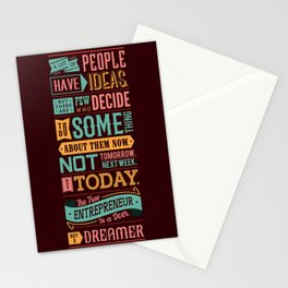 Lab No. 4 A Lot Of People Have Ideas Nolan Bushnell Motivational Quotes Stationery Cards