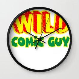 Wild Comic Guy Wall Clock