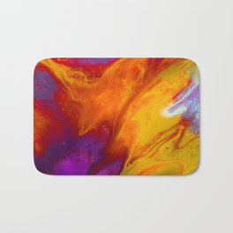 Fluid Abstract 37; The Fire Rages On Bath Mat