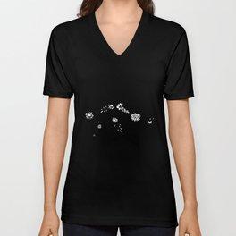 Aquarius Floral Zodiac Constellation Unisex V-Neck