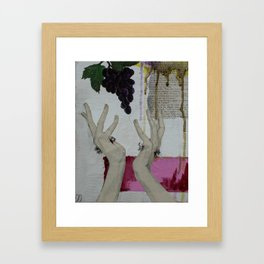 Wash My Sin Framed Art Print