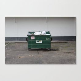 yung dumpster Canvas Print