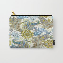 Golden Paisley Carry-All Pouch