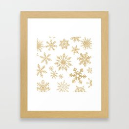 Snowflake Pattern 01 Framed Art Print