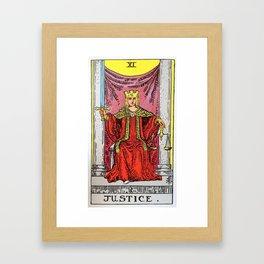Justice Tarot Framed Art Print
