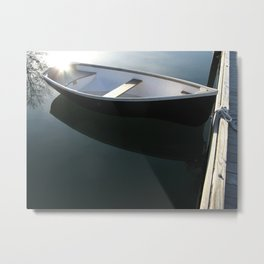 Rowboat with Flare Metal Print