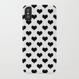 White Black Heart Minimalist iPhone Case