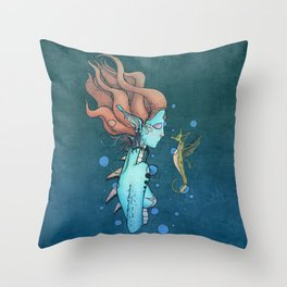 Deep Within The Ocean Sea Throw Pillow
