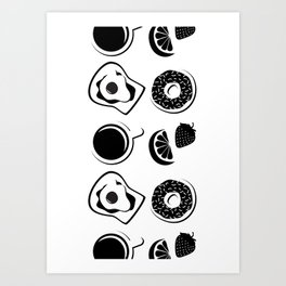 Breakfast Lunch and Dinner Art Print