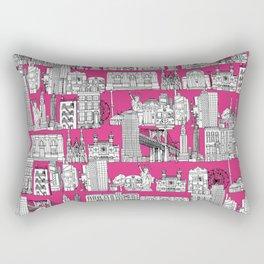 New York pink Rectangular Pillow