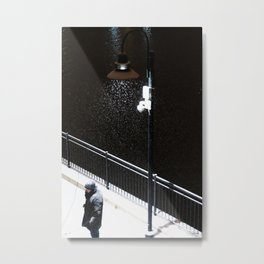 Snowy Spotlight Metal Print