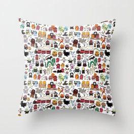 Kawaii Harry Potter Doodle Throw Pillow