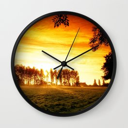 Country Firesky Wall Clock