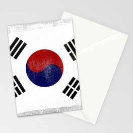 South Korean Distressed Halftone Denim Flag Stationery Cards