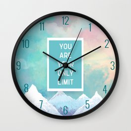 Your Only Limit Quote Wall Clock