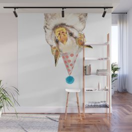 Baby Bat with Party Hat Wall Mural