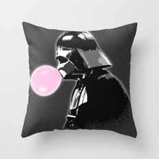 Bubblegum bubble - Vader Style Throw Pillow