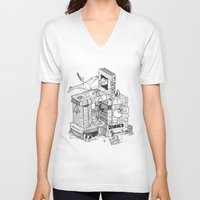 conan V-neck T-shirts featuring Worlds within Worlds by KadetKat