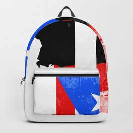 Puerto Rico + Flag Backpack