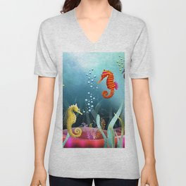 Sea Horse Ranch Unisex V-Neck