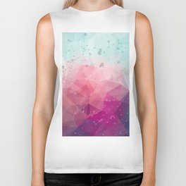 Abstract polygonal colourful background Biker Tank