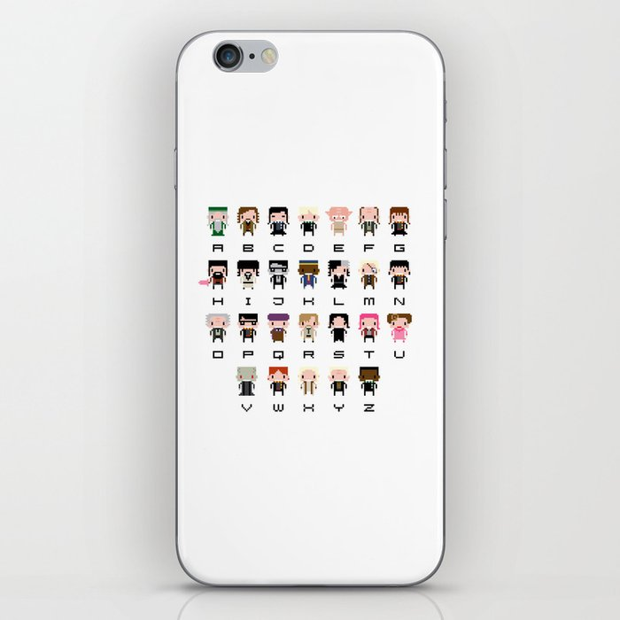 Harry Potter Alphabet iPhone Skin