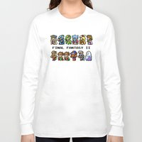 final fantasy Long Sleeve T-shirts featuring Final Fantasy II Characters by Nerd Stuff