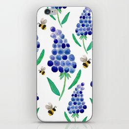 Muscari & Bees iPhone Skin