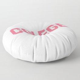 Colege - Pink Misspell Floor Pillow