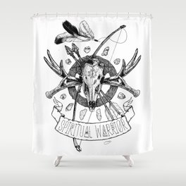 Spiritual Warrior Shower Curtain
