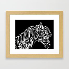 Kiger Mustang Tribal Graphic Framed Art Print