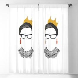 RBG Ruth Bader Ginsburg Drawing Blackout Curtain