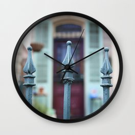 French Quarter Gate Wall Clock