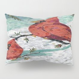 Cardinals In Winter Pillow Sham
