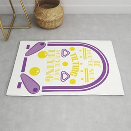 """Great t-shir5t design """"If You're Not Tilting You're Not Trying"""" A nice Saying to keep you Motivated Rug"""