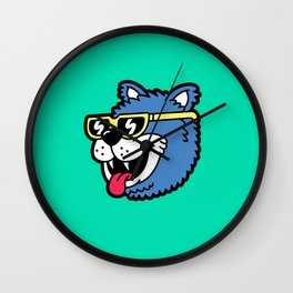 Cool Bear (portrait) Wall Clock