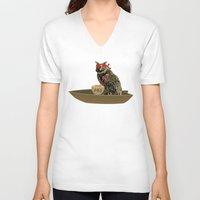 vietnam V-neck T-shirts featuring Vietnam Owl by October's Very Own