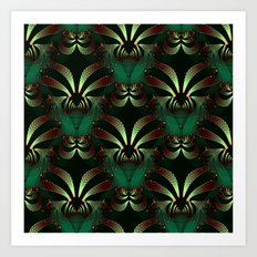 Jewels of Garnet and Emerald Abstract #212 Art Print