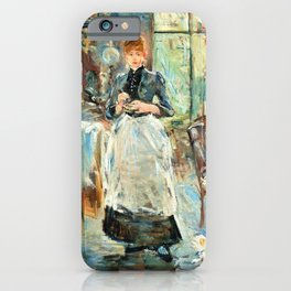 Berthe Morisot - In the Dining Room - Digital Remastered Edition iPhone Case