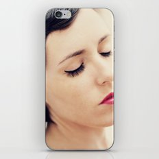 Red lips iPhone & iPod Skin