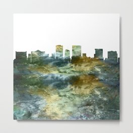El Paso Skyline Texas Metal Print