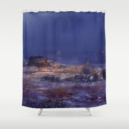 Hitch Hiker Shower Curtain