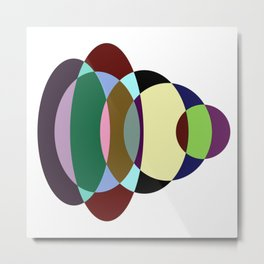 Pastel Meditation - Pastel coloured, relaxing, calming, abstract, elliptical interactions Metal Print
