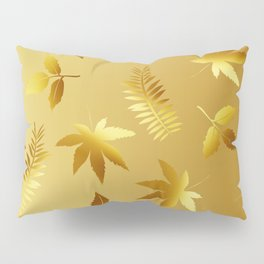 Gold leaves Pillow Sham