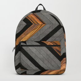 Urban Tribal Pattern 2 - Concrete and Wood Backpack
