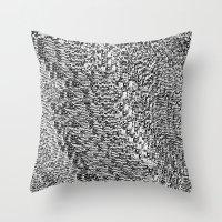 metallic Throw Pillows featuring metallic by clemm