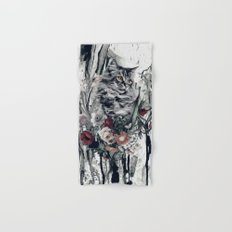 Cat in flowers Hand & Bath Towel