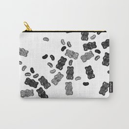 Black and White Gummy Bears Explosion Carry-All Pouch